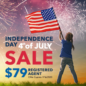 4th of July Registered Agent Sale