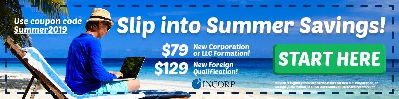 summer sale coupon resident agent llc corporation