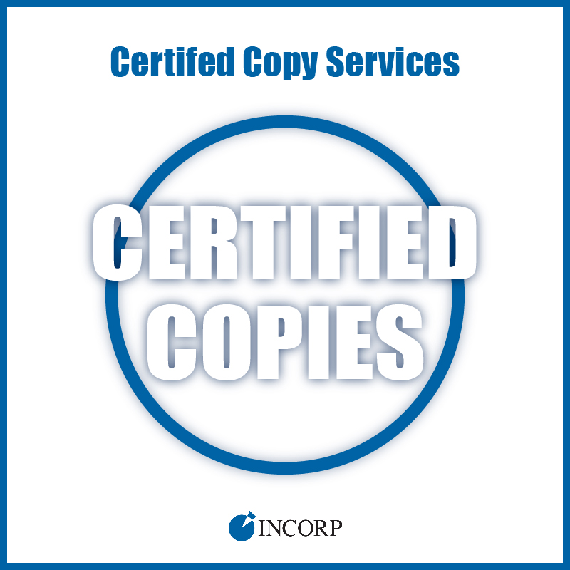 Certified Copies Of Your Corporation And Formation Documents Incorp Services